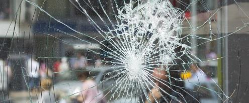 Glasschade in ruit